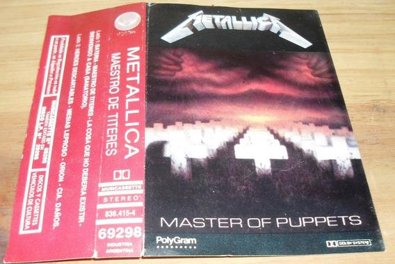 Caratula Original Cassette Metallica - Master Of Puppets