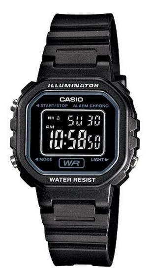 Relógio Casio Infantil Masculino Preto Quadrado Digital + Nf