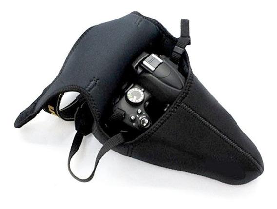 Capa Neoprene Câmera Bolsa Canon Nikon Sony Fuji Tam G