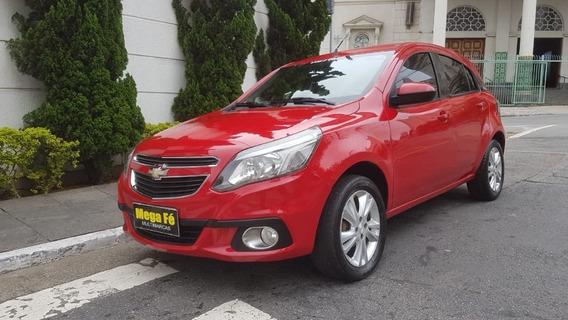 Chevrolet Agile 1.4 Ltz Flex 2014 Vermelho Completo