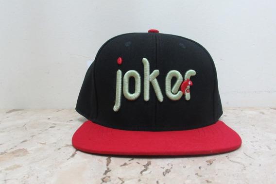 Boné Colors Joker - Preto Com Vermelho