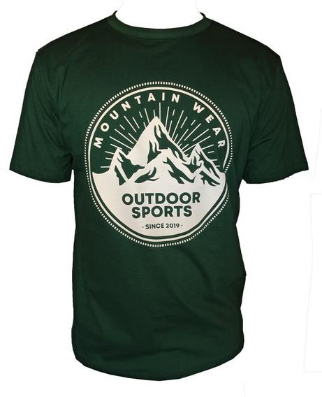 Camiseta Mountain Wear Verde / Cm07