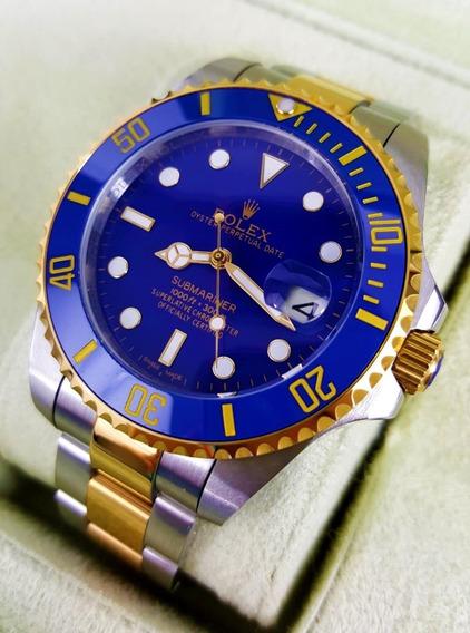 Reloj Rolex Submariner Acero Oro Esfera Azul Automatico