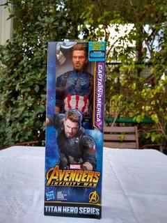 Captain America Avengers Marvel - War Power - Hasbro -30 Cm