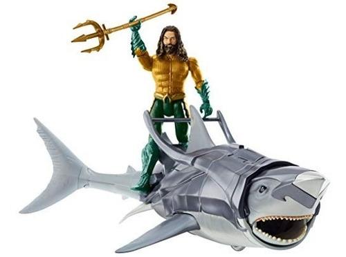 Aquaman Y Figura Del Guerrero Del Tiburón Y El Paquete Cri
