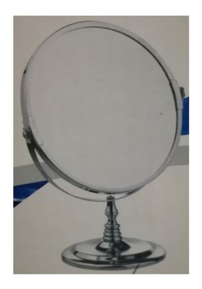 Espejo Doble Faz 3x Aumento Giro 360 Maquillaje Afeitado