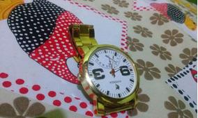 Relógio Feminino Potenzia Banhado A Ouro