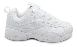 Tenis Fila Fila Ray 5rm00896-100 Wht/wht/wht White Blanco