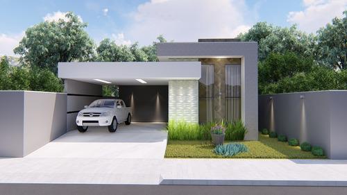 Imagem 1 de 8 de Planta De Casa 2 Quartos - Projeto Arquitetônico Completo