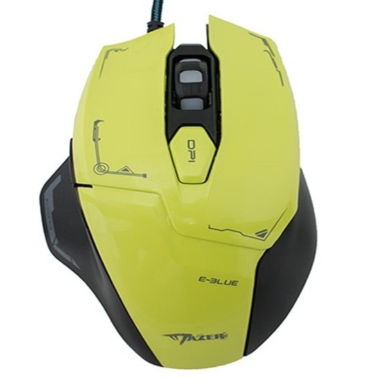 Mouse Gamer E-blue Mazer M642 Advance 2500dpi Gaming Verde