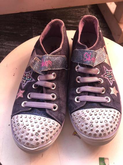 Zapatillas Skechers Nena Luces Talle 30