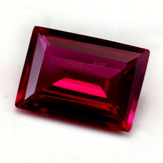 Belíssimo Baguete De Rubi Pedra Preciosa / 8,58cts / 10x14mm