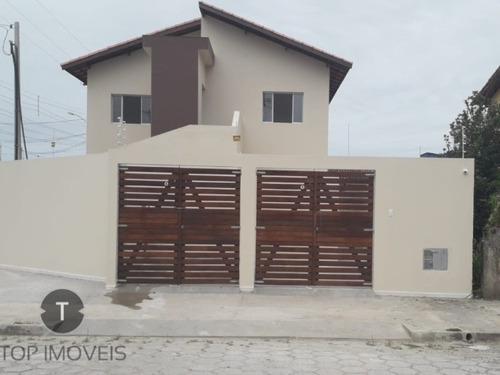 Casa Sobreposta Alta Com 2 Dormitórios  À  Venda  Em Itanhaém,são Paulo,bairro Nova Itanhaém - Ca00486 - 68306975