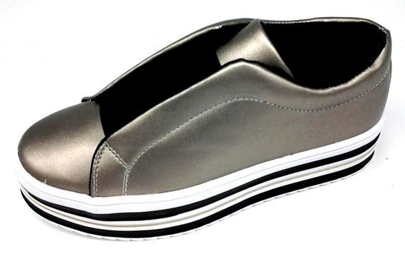 Zapatos Urbanos Para Mujer Inex Plateado 2 Al 6