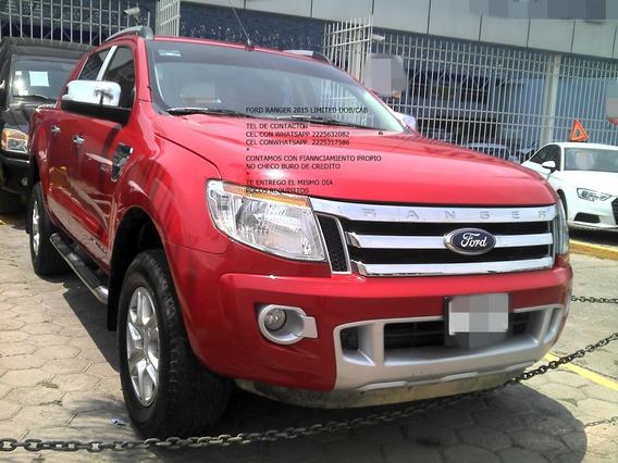Ford Ranger 2015 Dob/cab 2.5 Lts Piel Enganche $ 62,000