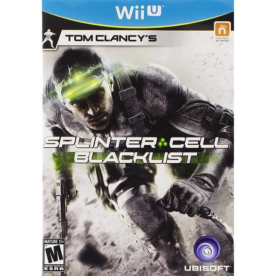 Tom Clancys Splinter Cell Blacklist Wii U Mídia Física Novo