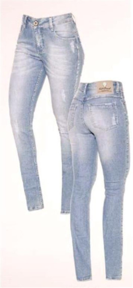 Cigarrete Knt Cintura Alta Jeans