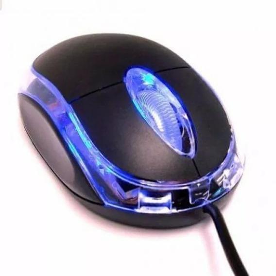 Mini Mouse Óptico Com Fio 3 Botões Usb 1000dpi Pc E Notebook