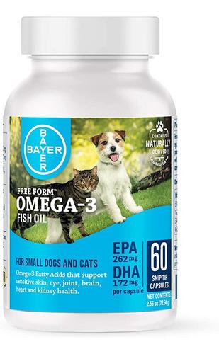Omega 3 Bayer Para Caes E Gatos Pequeno- 60 Capsulas Softgel
