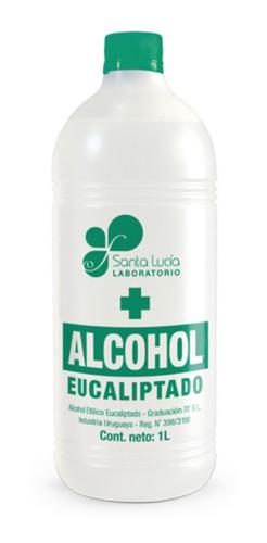 Alcohol Etilico Eucaliptado Santa Lucia 70% 1 Litro Tcec