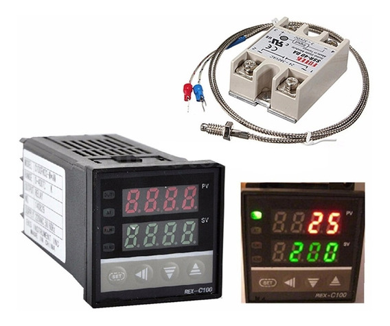Controlador De Temperatura Digital J K Pt100 Pronta Entrega