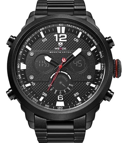 Relógio Masculino Weide Anadigi Preto 10137