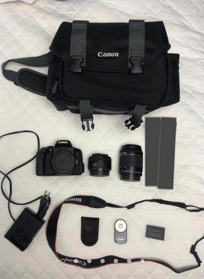Canon T6i + 2 Lentes + Bolsa Kit