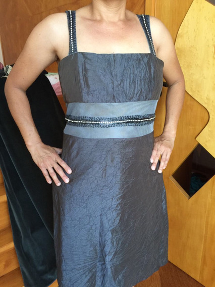 Vestido Midi Chumbo