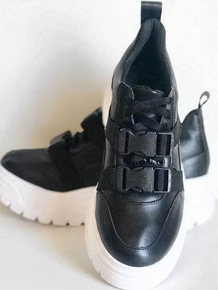 Tênis Chunky Sneaker Preto Colorido Envio Imediato Original