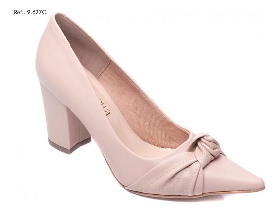 Sapato Feminino Scarpin Salto Bloco Bico Fino Torricella