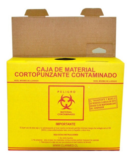 Caja De Eliminacion Material Cortopunzante Amarillo Grande