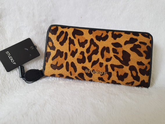 Billetera Animal Print Studio F 100 % Original 35 Vdes