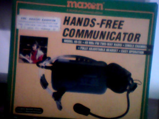 Hands -free Communicator Maxon Model49-sx.49mhz Fm Two-way