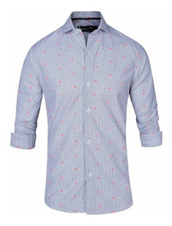 Camisa Entallada Hombre Vestir Slim Fit Quality Import Usa