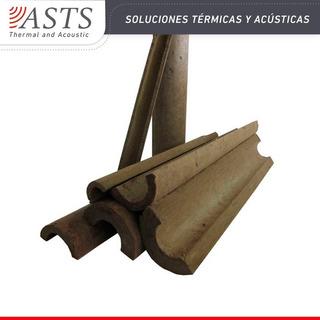 Medias Cañas De Lana Mineral 50 Mm Caño 5 Pulg Pack De 5,75 Metros Lineales