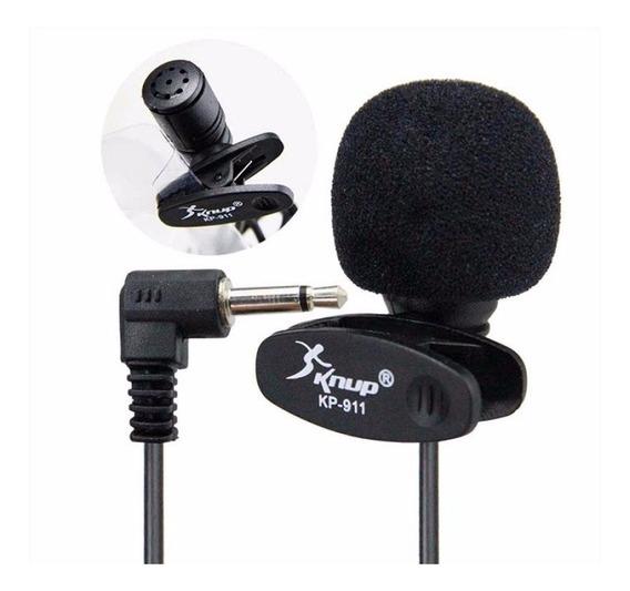 15 Microfone De Lapela 3.5mm Stereo P2 Knup Kp911 Atacado