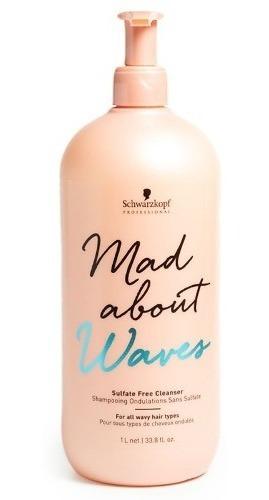 Schwarzkopf Mad About Waves Shampoo Ondas Sin Sulfato 1000ml