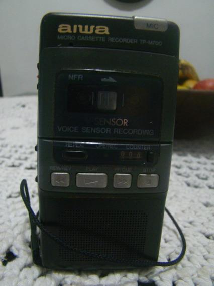 Micro Gravador Cassete Aiwa Tp M700 , Para Consertar
