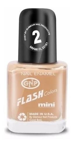 Imagen 1 de 4 de Esmalte Flash Colors De Gnp 9ml Nro.2 Nude