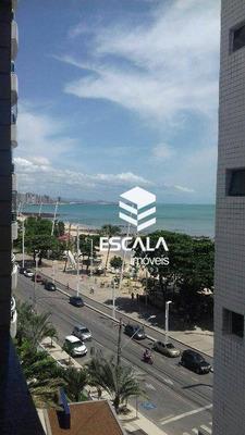 Apartamento Com 2 Quartos À Venda No Meireles, Na Avenida Beira Mar, 85m², Wc Social - Ap1412