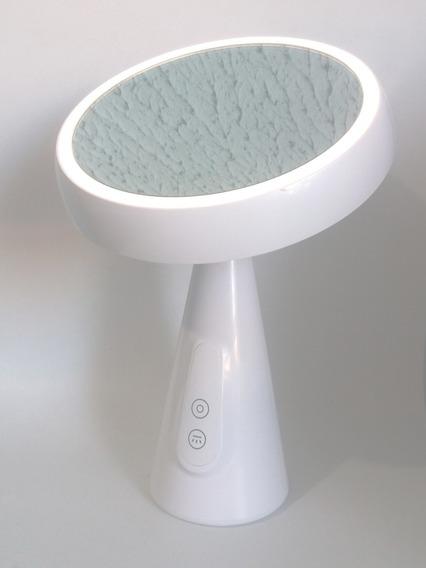 Espelho Maquiagem Redondo Para Mesa Com Luz Led Giratório