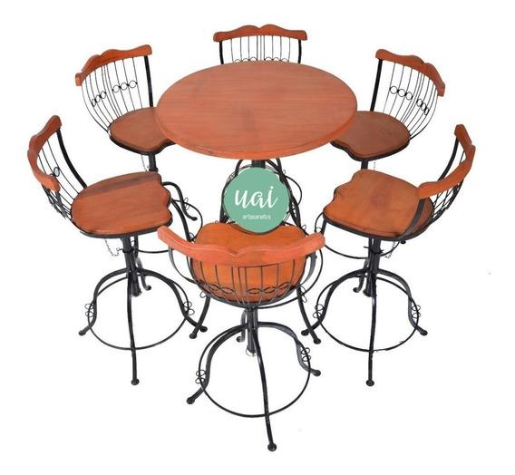 Conjunto Bistrô 6 Cadeiras + Mesa Promoção Reguláveis Barato