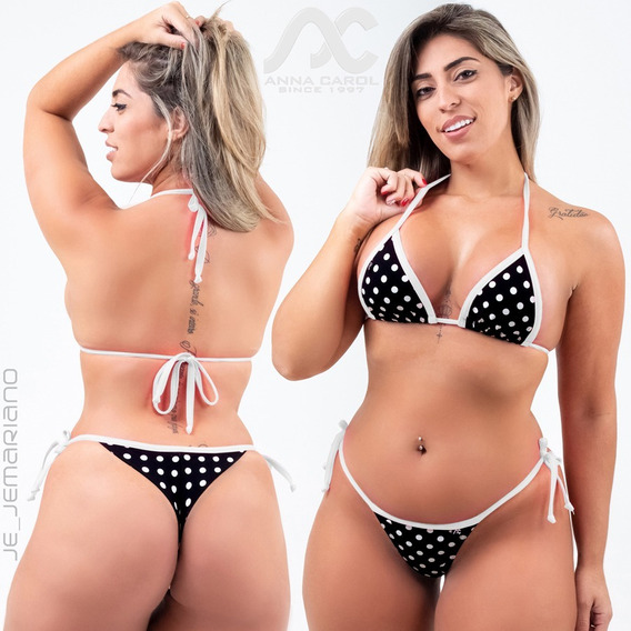 Conjunto Fio Dental Levanta Bumbum Bikinis Anna Carol Blf-20