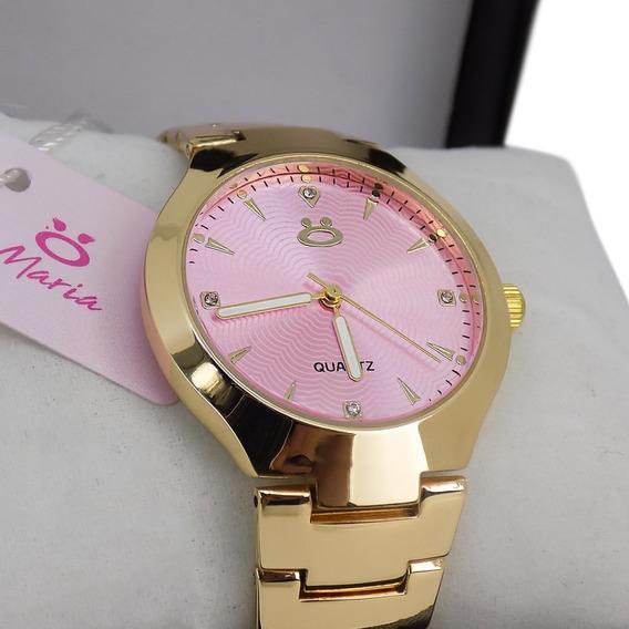 Relógio Feminino Original Dourado Promoção Barato