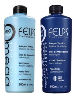 Felps Kit Progressiva Omega Zero Sem Formol 2x500ml