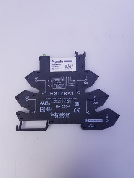 Rele De Interface Slim Schneider Rslzra1 Base + Relé
