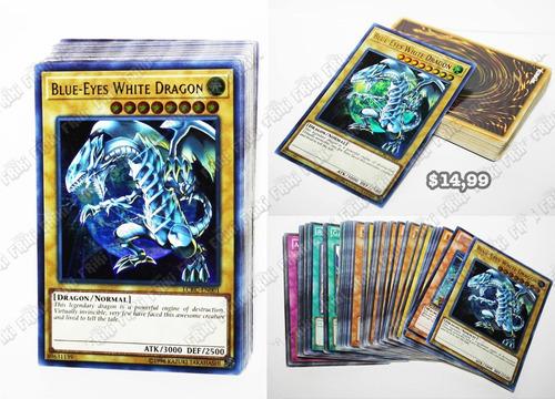 Set Anime Yu-gi-oh Blue-eyes White Dragon (tienda Friki)