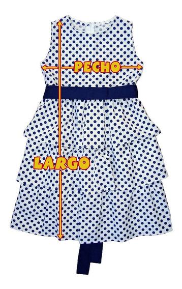 Vestido C/ Volados Lunares Talles Grandes-nena