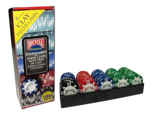 Set Fichas De Poker Bicycle 100 Unid. 8g / Par De Patos