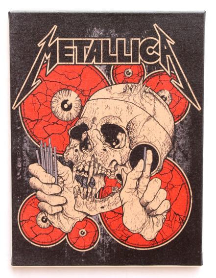 Quadro Metallica Impresso Em Tela De Pintura